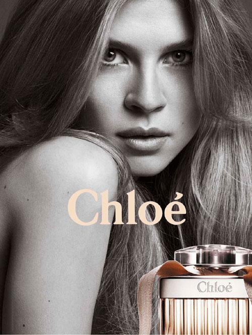 Clemence Poesy imagen de Chloe perfumes