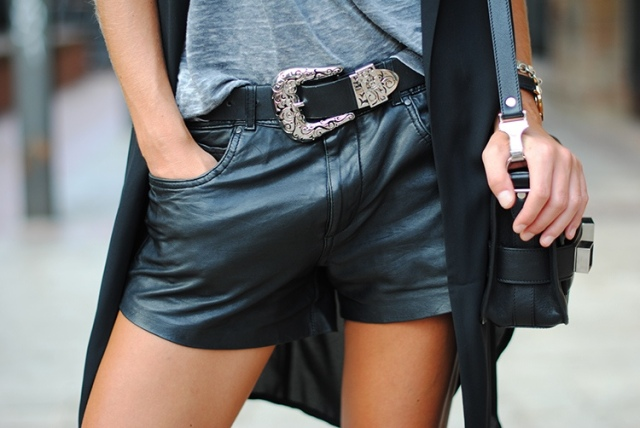 leather-black-shorts