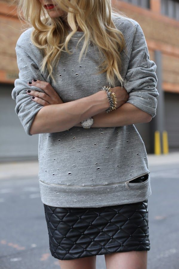 leather-skirt-sweater