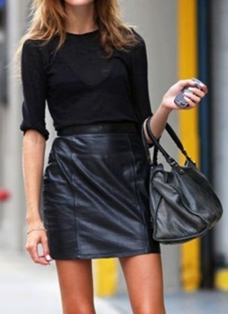 total-black-leather-skirt